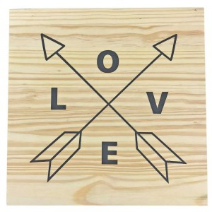 Placa Decorativa Love & Arrows!